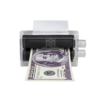 Wholesale 2016 New Arrival PC PlasticChildren Kids Magic Trick Easy Money Printing Machine Money Maker Props Toys