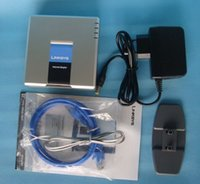 Wholesale by dhl or ems UNLOCKED PAP2T NA Linksys PAP2T Internet SIP VOIP Gateway D0252D Phone Ports Adapter
