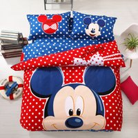 mickey mouse bedding - DHL Cotton Mickey Mouse Winne Bear Sheets Babymilo Bear Cartoon Bedding Set