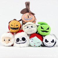 Wholesale New tsum Halloween cosplay Christmas night scared Jack Sally Couple phone wipe pendant Pa doll plush cute gift Stuffed Animals Funny dolls