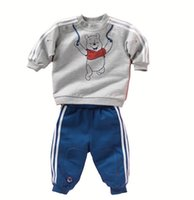 bebe tops - autumn baby boy girl clothes Long sleeve Top pants sport suit baby clothing set newborn infant clothing bebe