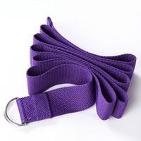 Wholesale Yoga Belt Fitness Equipment Gym Power Band Pilates Exercise Belts Training Fitness Pull Rope Cotton Yoga Straps Entrenamiento