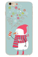 bell fittings - Snow Man Christmas Bell TPU Ultra Thin Soft Cellphone Protector for iPhone S Plus Caes