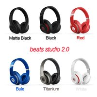 Wholesale 2016 Studio Headphones Bluetooth Headphone Over Ear AAAAA Quality With Retail Package by free DHL
