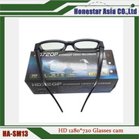 Wholesale High quality real spy glasses camera SM13 MP mini hidden camera video glasses with factory price