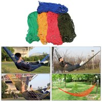 Cheap Portable Outdoor Hammock Nylon Hanging Net Mesh Sleeping Bed Hang Garden Net Swing Bed Outdoor Travel Camping Hammock 5 colors C20
