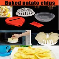 baking basket - Bake potato Chips Homemade Microwave Oven Maker Cutter Machine Tools Grill Basket Fat Free Slicer Plate Kitchen supplies