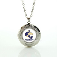 american sports washington - People best loved locket necklace American sport rugby jewelry football Washington Huskies Souvenirs men jewelry gift NF081