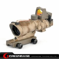 acog sights - New Tactical Trijicon ACOG Style EC X32 Fiber Optic Red Dot Sight Scope With QD Mount For Hunting Rifle Scope Kryptek khaki NGA0461