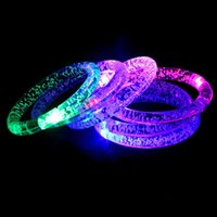 Wholesale LED bracelet light up flashing Glowing bracelet Blinking Crystal bracelet Party Disco Christmas Gift Wristband Luminous Toys Multi Color