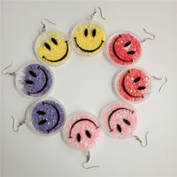 acrylic chandelier beads - European exaggerated punk acrylic beads sequins cute smiley earrings lady hip hop nightclub jewelry accessories