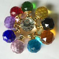 Cheap 1pack 10 Pcs 20mm 30mm 35mm 40mm Diamond Shape Crystal Glass Drawer Cabinet Knob Pull Handle Kitchen Door Wardrobe Hardware