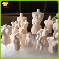 Wholesale body parts silicone mold for clay plaster molds