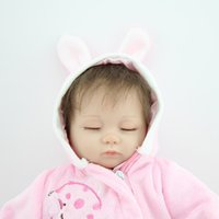 adorable doll clothes - 40 CM Reborn Baby Doll Soft Silicone Vinyl Girl Dolls Pink Cute Clothes open close Eyes Handmade lifelike Adorable Toys