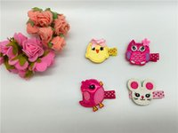 baby chickens sale - Hot Sale set Fashion Glitter Embroidery Bunny Chicken Owl Barrettes Cute Cartoon Babies Felt Hair Clips Baby Girls Hair Accessories