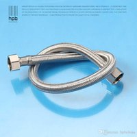 Wholesale Han Pai Bathroom Brass Plumbing Hoses for Basin Toilet Triangle valve Calorifier Shower Hose Pipe HP7604
