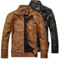 Wholesale Fall new arrival brand motorcycle leather jacket men men s jackets leather jacket coat