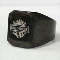 Precio de Venta caliente de la motocicleta-2pcs la joyería más nueva del diseño en color Negro motocicletas anillo de acero inoxidable 316L del motorista Mens del estilo del vendedor caliente del anillo del motorista