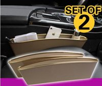 Wholesale Car seat aperture leakproof sundries boxes for on board handset trash can Automotive cracks receive boxes Black yellow gray