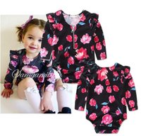 beautiful baby clothes - 2016 lotus leaf lace girls spring autumn with body clothing years baby fashion jeans beautiful floral children cloth set A45