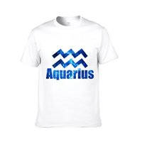 aquarius men - Men s Latest Version Constellations Short sleeved T shirt Pure Cotton Aquarius Round Neck Short sleeve Shirt Clothes Best Selling Color