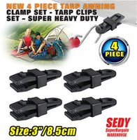 awnings parts - Awning Clamp Tarp Clips Hangers Tent Camping Survival Tighten Tool Fixture Hand Clamp Pack