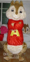 alvin the chipmunk - OISK Alvin and the Chipmunks Mascot Costume Animal Suit Halloween Christmas Birthday Full Body Props Costumes Outfit