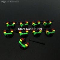 acrylic stripe hoop earrings - Hot fashion jewelry new arrival acrylic dangle colors stripes Small hoop Backing Earring