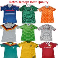 argentina soccer - Soccer Jersey France World Cup Retro Football Shirts Mexico Green Shirts Netherland Germanys Argentina Brazil Retro Jersey Beckham