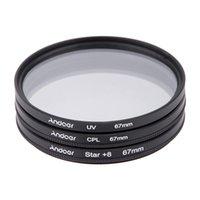 Wholesale Andoer mm Filter Set UV CPL Star Point Filter Kit with Case for Canon Nikon Sony DSLR Camera Lens
