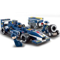 formula pc with best reviews - Construction Toys Sluban 196 Pcs ABS Early Education Gift Toys Building Blocks Of Formula Blue Light Racing Car For Boy