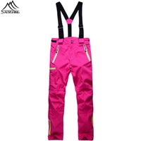 Wholesale Colors Winter Unisex Waterproof Ski Pant Men Fleece Thermal Snowboard Pants Women Outdoor Skiing And Sonwboarding Snow Trousers