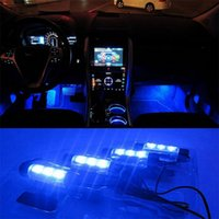 Wholesale High Quality Blue in1 V x LED car Interior light Decorative Atmosphere Lights Car Styling Lamp For Ford Focus