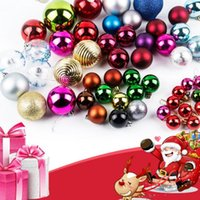 Wholesale 49pcs New Year Christmas Decorations Balls Christmas Trees Ornament Decorations Party Supplies Include Many Size Shipping DHL