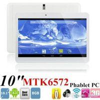 10 Inch 3g Dual Core Tablet Mtk6572 3g Android 4.4 1g Ram 8g Rom Construit dans la 3G Sim Card slot Bluetooth Phone Call Tablet PB10-G3