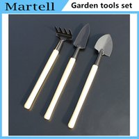 Wholesale 1 set pieces small garden tools Reinforced mini three set shovel rake spade gardening practical set