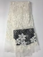 Wholesale Cotton Guipure Cord African Lace Fabric African water soluble Cord Lace W2