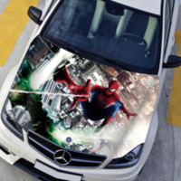 Wholesale Car Front Hood Engine Spiderman Sticker Decal Full Color Vinyl Fit for Any Car and Boat