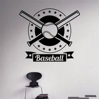baseball wall sticker - Baseball Logo Wall Stickers home decoration Custom Name Game Boys Bedroom Decor Wall Decals Any Room Waterproof Sticker T256