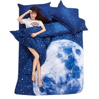 animal print bedroom sets - Thick D Bedding Set King Size Cotton Duvet Cover Set Bedroom Moon Star Bed Sheet Galaxy Space Housse de Couette King size cm cm
