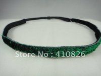 Wholesale 3 inch mm glitter non slip adjustable headband colors you pick for