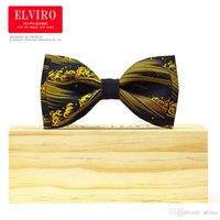 2016 high-end hommes cravate cravate nœud papillon d'impression mariage japonais Ukiyo-e doré noeud papillon homme pajaritas