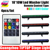 Wholesale 4XLOT W RGBW Led Wall Washer Indoor Flood Light IN1 x10W White RED Blue Green Warranty CE Rohs V V DMX Color Change