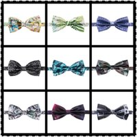 Wholesale Men s Bow tie Bow Tie Multicolor Plain Silk Polyester Bow Ties Whole Sale For Party Wedding