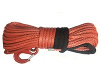 atv winch hook - quot x100 Red Synthetic Winch Rope With Hook for ATV UTV Cars KFI Trucks Tractor Vehicles