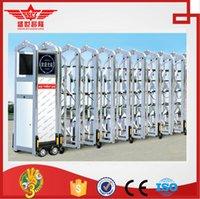 aluminum garden gates - Villa garden automatic swing aluminum gate manufacture L1362