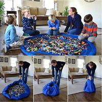 2016 bébé coloré tapis de jeu 150 / 45cm tapis de jeu jouet sac de rangement sac portable de stockage de jouets Blanket Boîtes Tapis Jouets Organizer DHL gratuit