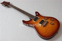 achat en gros de acajou pommelé-Quilted top finition brillante guitare, personnalisée 22 frettes, touche palissandre, corps en acajou et le cou guitares électriques