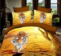 Wholesale Bedding Supplies D coloured Oil painting Animal flowers duvet cover set quilt cover flat sheet pillowcases bedding set