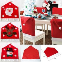 acrylic dining chair - Christmas coverings cm Santa Claus Christmas Party Diner Dining Room Table Chair Cover Home Decorations Santa Grandpa Chairs Covering